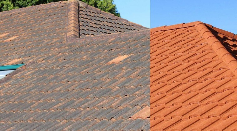 Before and after - brick | brickwork | brick, brickwork, facade, outdoor structure, roof, roofer, sky, wall, wood, wood stain, orange, gray