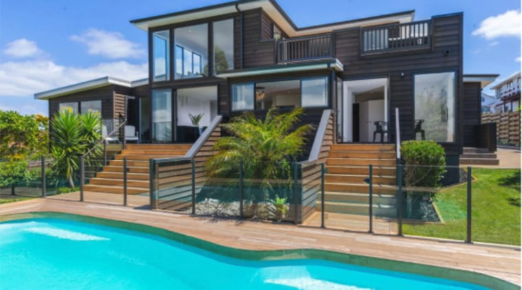 After - After - architecture | building | architecture, building, estate, facade, home, house, leisure, property, real estate, residential area, swimming pool, villa, teal