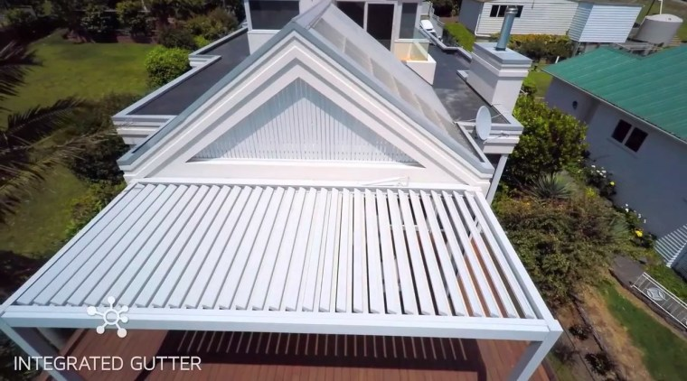 Bask Louvre Roof Video - daylighting | facade daylighting, facade, home, house, outdoor structure, property, real estate, roof, shed, siding, structure, window, white