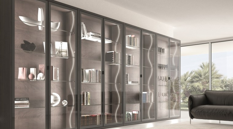 Domus Line Flexible Side Emitting Se H4 Led door, furniture, interior design, shelving, wardrobe, gray