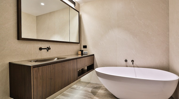 To complement the homeowner's own choice of vanity,