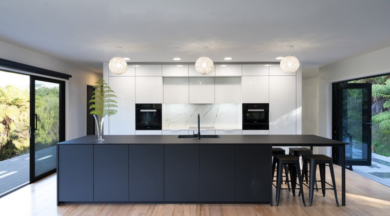 The cabinetry was manufactured to a unique specification