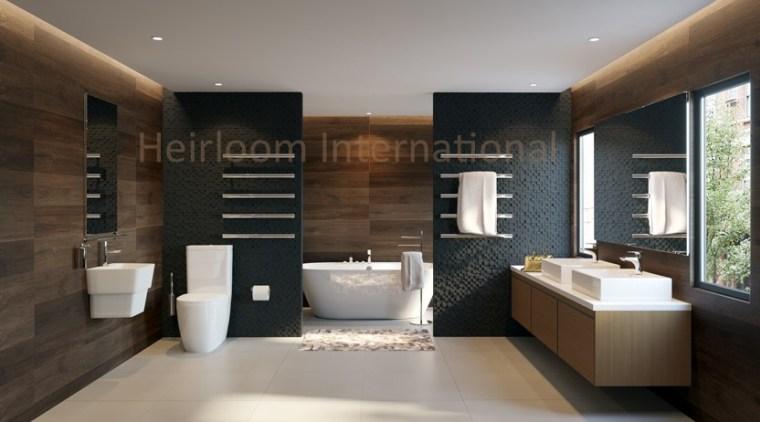 Heirloom Hil Setting 2 A Gr bathroom, floor, flooring, interior design, room, gray, black