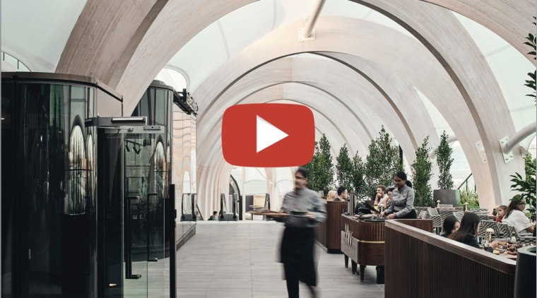 The Link – Make's innovative 110m vaulted walkway at gray, black