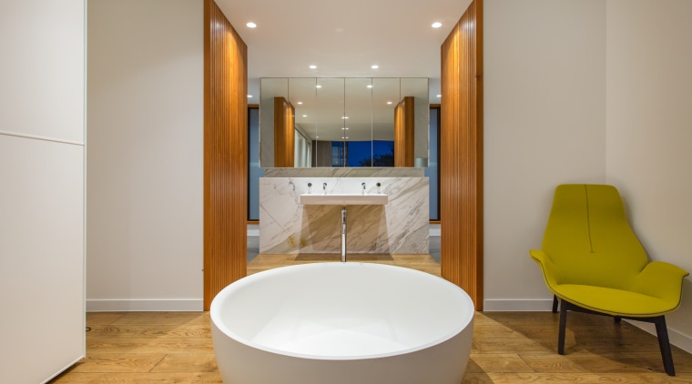 Tub, floor-standing pourer, marble vanity and vanity plumbing architecture, bathroom, interior design, plumbing fixture, room, sink, gray