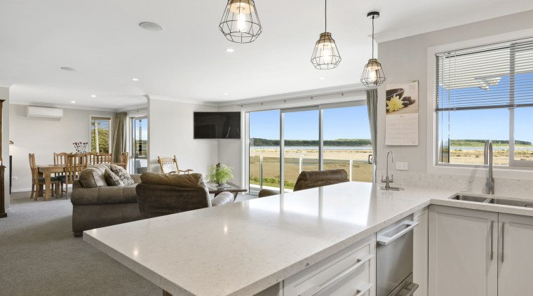 Silestone countertops feature in this light-filled kitchen – countertop, silestone, home, interior design, kitchen, white kitchen, Fowler Homes,  new home builder