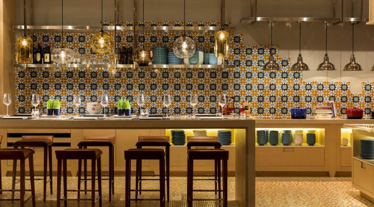 Cafe Post at Hotel Indigo Hong Kong Island, interior design, bar area, Cafe Post, Hotel Indigo, Aedas Interiors