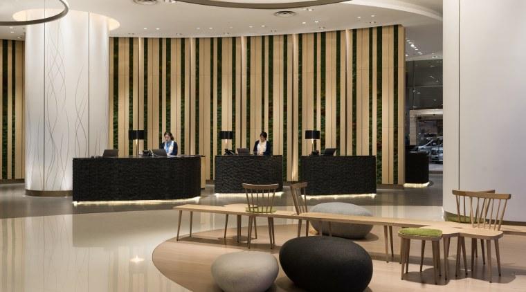 The lobby at the Novotel Century Hong Kong, floor, flooring, furniture, interior design, lobby, Hotel, Novotel