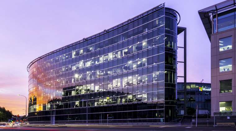When Auckland Transport moved to the VXV20 building architecture, building, city, commercial building, condominium, corporate headquarters, daytime, facade, headquarters, landmark, metropolis, metropolitan area, mixed use, night, reflection, residential area, sky, structure, tower block, urban area, blue, purple
