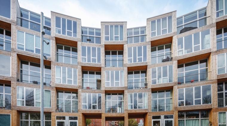 The 66 modular units at Dortheavej are arranged apartments, architecture, building, mixed condominium, homeneighbourhood, property, residential area, Bjarke Ingels Group