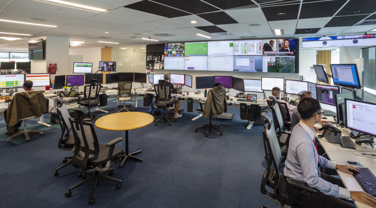 Vidak supplied sit-to-stand Rise workstations for the Vodafone interior design, office, workstations, smart technology, Vidak