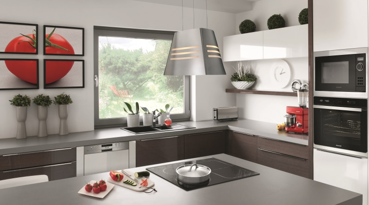 Available from Trade Depot stores or its user-friendly architecture, building, cabinetry, countertop, cuisine classique, floor, furniture, home, home appliance, house, interior design, kitchen, kitchen stove, material property, property, room, table, tile, white, gray