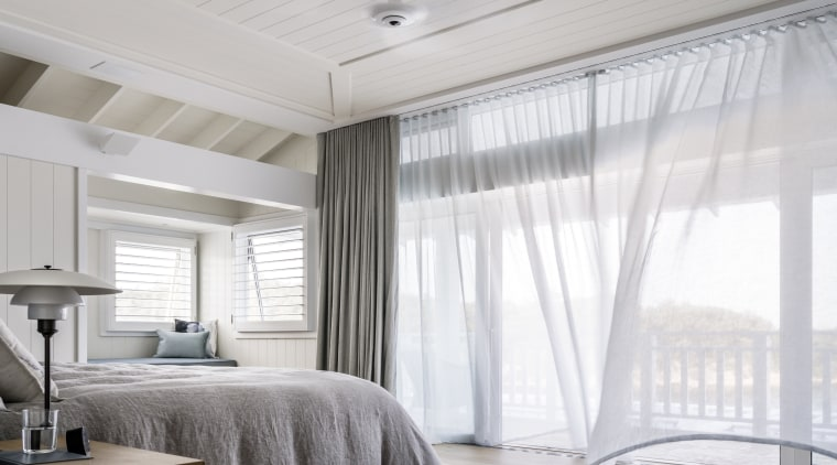 This master bedroom forms part of a master bedroom,  Hither design, master suite