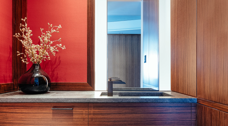 Prior to renovation, the existing powder room in architecture, home, penthouse, interior design, powder room, Andrew Wilkinson