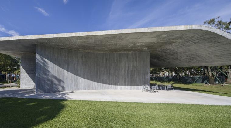 Thar she blows! Looking a little like a architecture, building, concrete bridge, pavilion, reinforced concrete, Thomas P Murphy Design Studio Building
