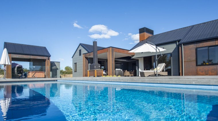 The Resort by Fowler Homes features Corten steel architecture, building, home, house, leisure, leisure centre, resort, swimming pool, vacation, fowler Homes