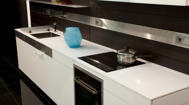 Poggenpohl Auckland Nz View countertop, interior design, kitchen, kitchen stove, product design, sink, black, gray