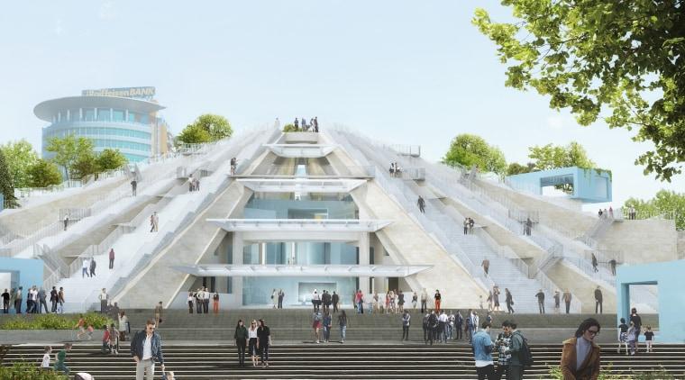 Construction has started on the Pyramid of Tirana,