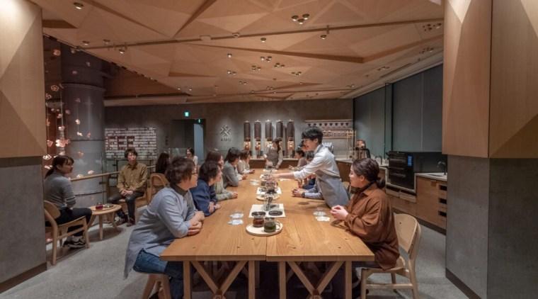 Sbx022519 Tokyo Roastery Opening 1 1024X683 - building building, café, cafeteria, furniture, interior design, restaurant, room, table, brown, black