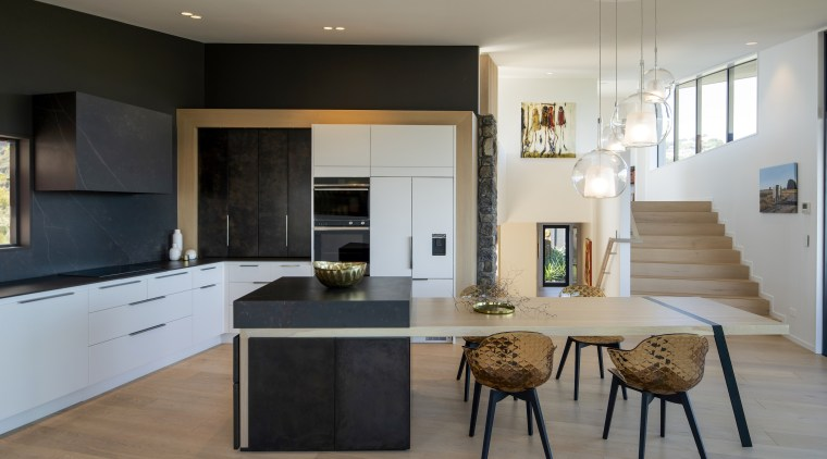 The homeowners wanted a functional, uncluttered kitchen which