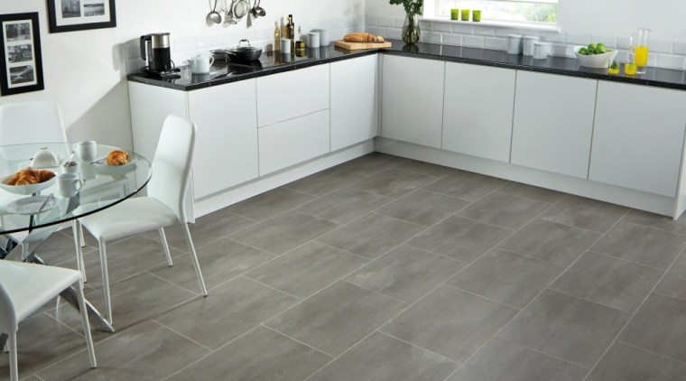 There's no shortage of lino options floor, flooring, hardwood, kitchen, laminate flooring, tile, wood, wood flooring, gray, white