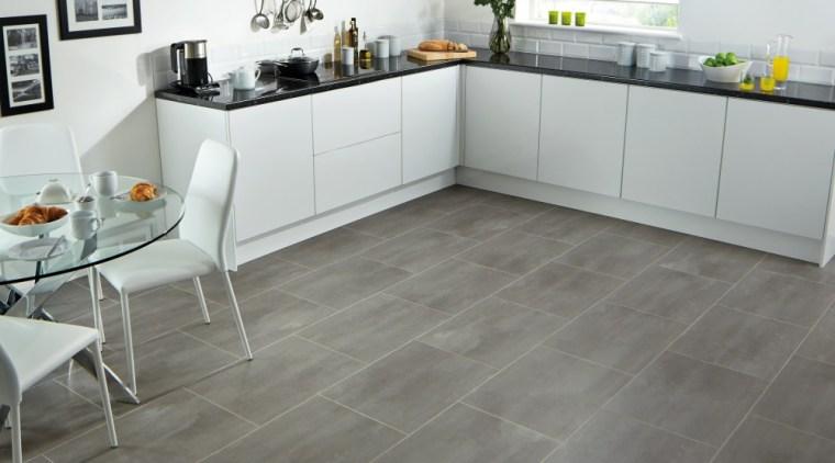 There's no shortage of lino options floor, flooring, hardwood, kitchen, laminate flooring, tile, wood, wood flooring, gray, white