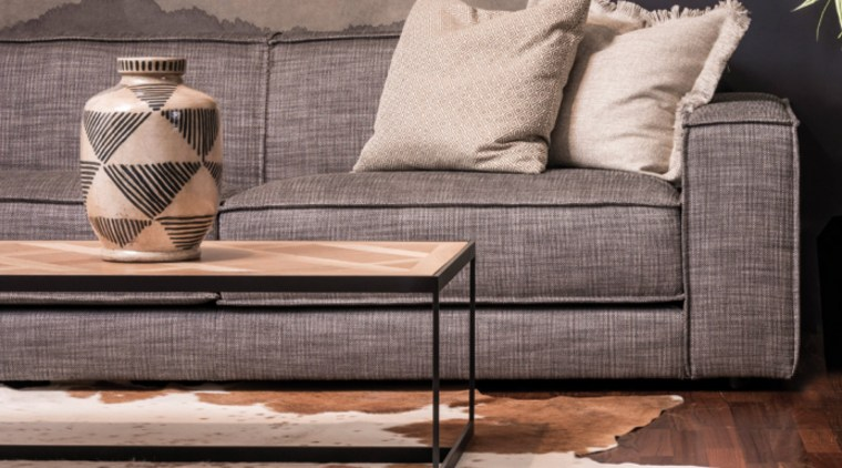 Choosing the right upholstery fabric chair, coffee table, couch, floor, flooring, furniture, interior design, living room, room, studio couch, table, tile, wall, wood, gray