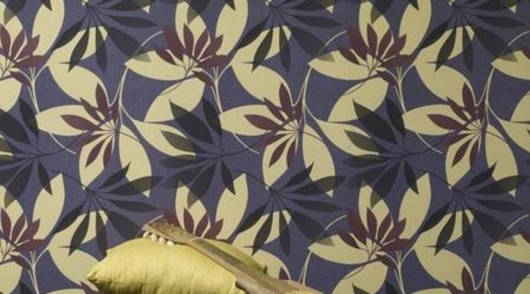 Stylised Florals design, pattern, wallpaper, black