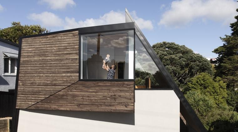 The design of TOA's Tuarangi House plays with gray