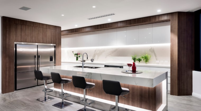 Tile floors are durable and look great cabinetry, countertop, interior design, kitchen, gray