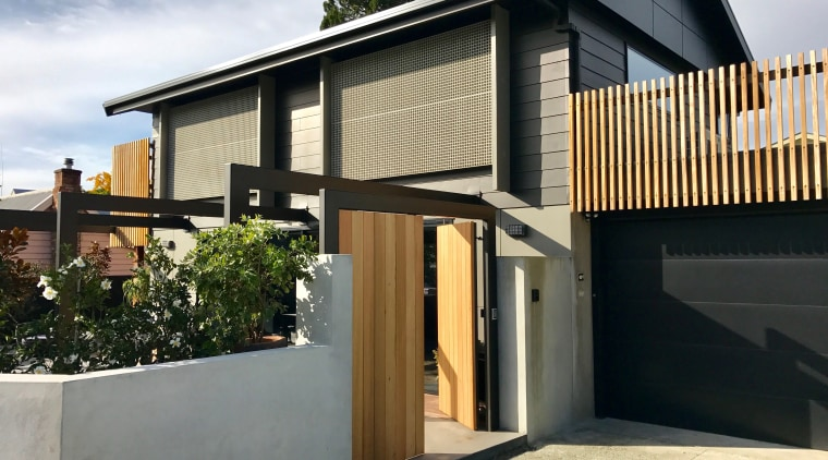 Karsten Architectural Design totally transformed this small basic architecture, building, concrete, design, facade, home, house, material property, property, real estate, residential area, roof, wall, wood, black