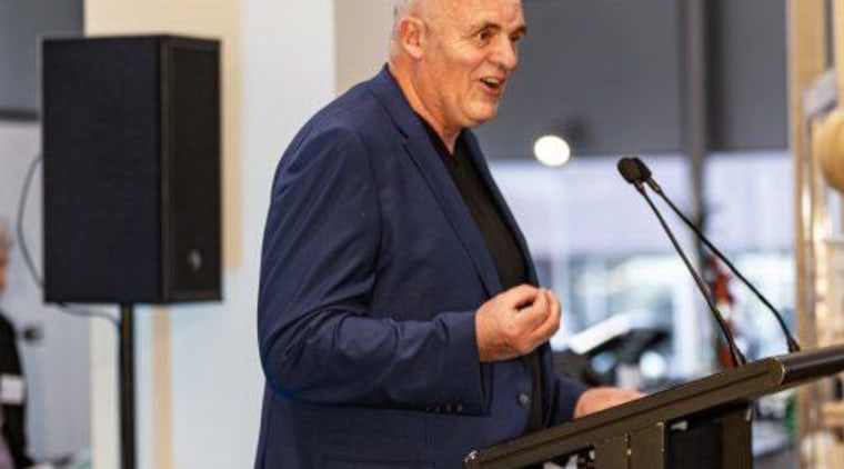 2019 TIDA New Zealand Homes presentation evening event, orator, public speaking, speech, gray