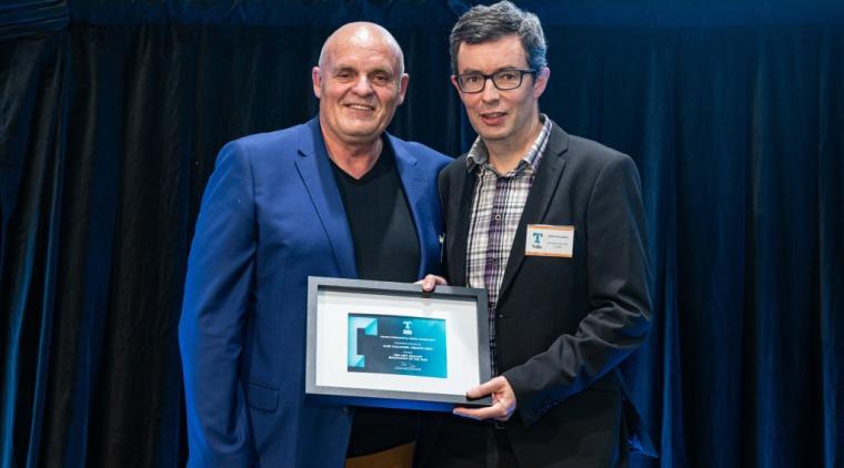 2019 TIDA New Zealand Homes presentation evening award, award ceremony, electronic device, event, job, technology, blue, black