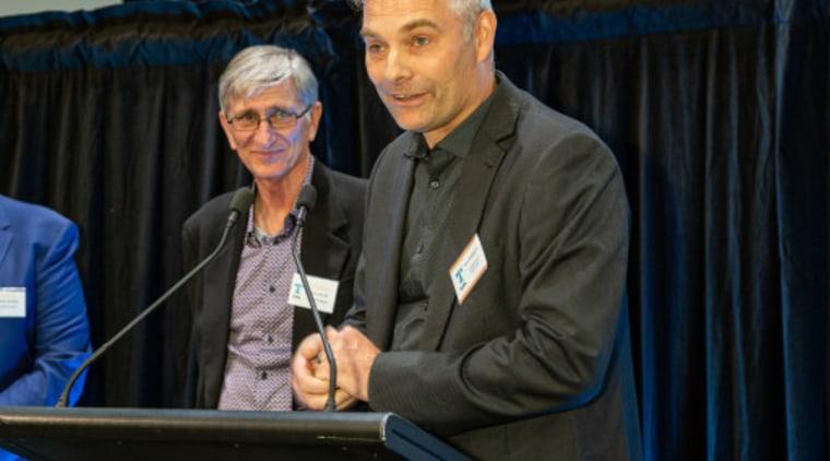 2019 TIDA New Zealand Homes presentation evening employment, event, official, public speaking, speech, spokesperson, black