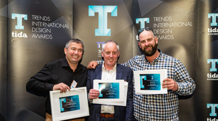 2019 TIDA New Zealand Homes presentation evening award, design, electronic device, event, media, technology, black