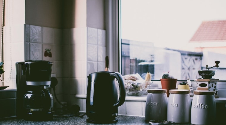 Small kitchen appliances: Some of the most important furniture, home, interior design, room, table, window, white, gray