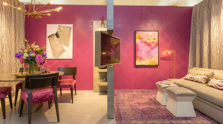 See more of this homeMagenta is a ceiling, furniture, home, interior design, purple, room, suite, wall, red, orange