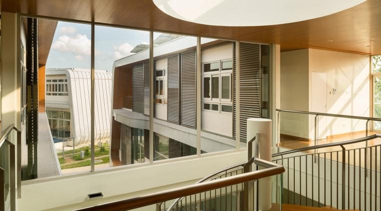 View apartment, architecture, balcony, condominium, daylighting, estate, house, interior design, property, real estate, window, brown, white