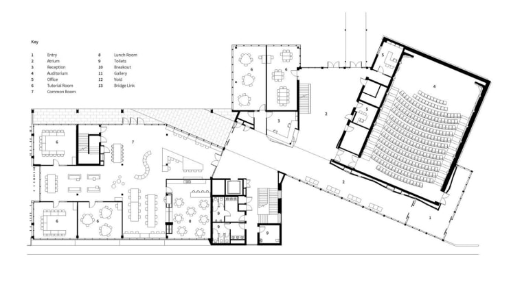 Architect: McIldowie PartnersPhotography by Peter Clarke architecture, area, black and white, design, diagram, drawing, elevation, floor plan, font, line, plan, product, product design, schematic, structure, text, white