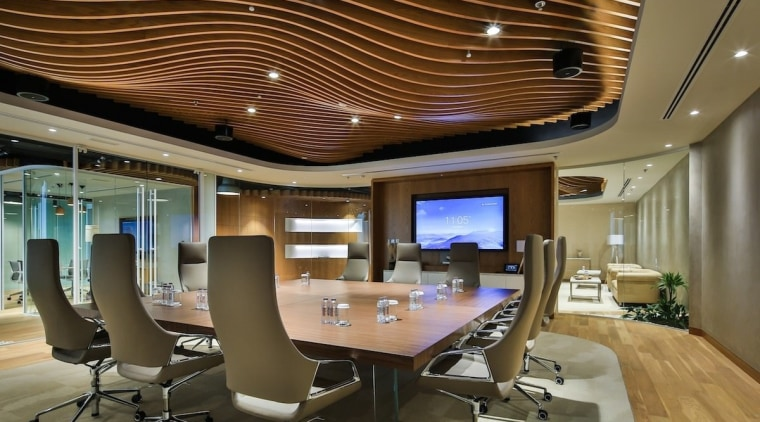 Smart Dubai ceiling, conference hall, interior design, office, brown