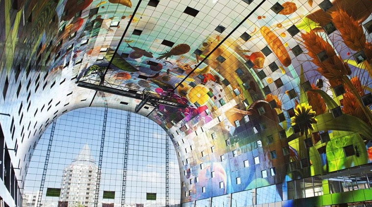The Markthal Rotterdam is a market hall unlike architecture, building, white