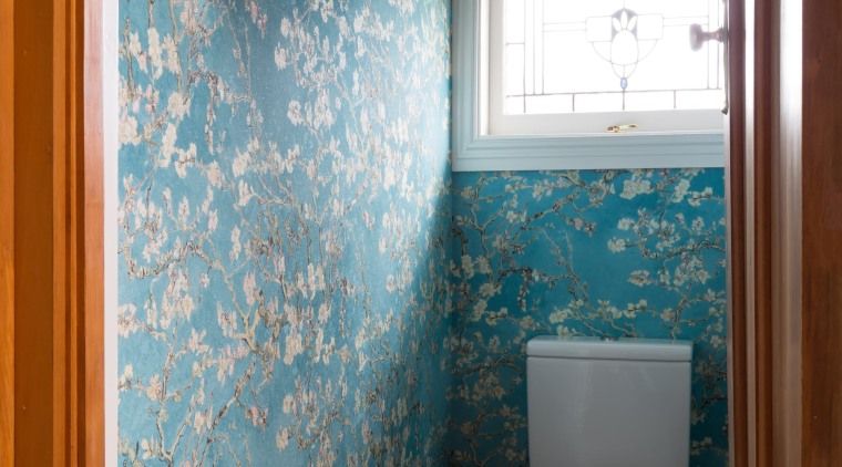 Wallpaper WC architecture, bathroom, blue, ceiling, floor, home, house, interior design, room, tile, wall, window, brown