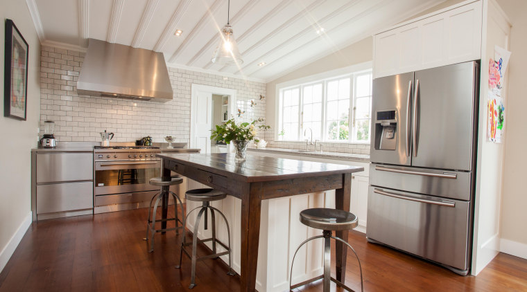 scp-1.jpg - cabinetry | ceiling | countertop | cabinetry, ceiling, countertop, cuisine classique, floor, flooring, hardwood, interior design, kitchen, laminate flooring, property, real estate, room, wood flooring, gray, brown