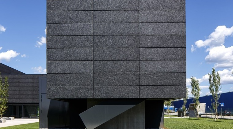 The new Faber headquarters designed by GEZA architecture, brutalist architecture, building, commercial building, corporate headquarters, facade, headquarters, house, sky, black