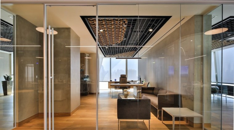Smart Dubai ceiling, glass, interior design, lobby, brown