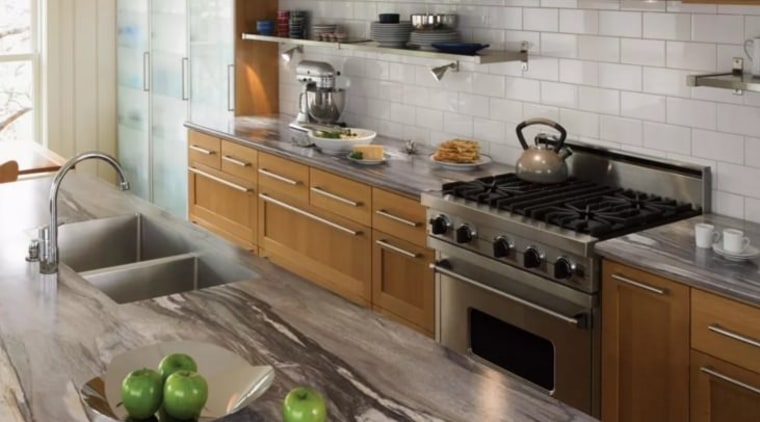 What will you include in your dream kitchen? cabinetry, countertop, cuisine classique, home appliance, interior design, kitchen, kitchen appliance, gray, brown