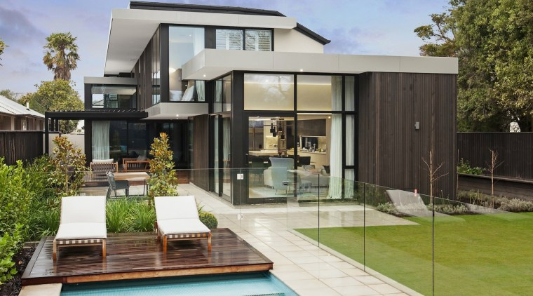 TIDA NZ 2017 – Designer new home winner architecture, backyard, elevation, estate, facade, home, house, property, real estate, residential area, swimming pool, villa