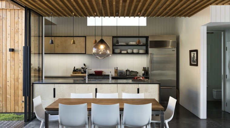 Strachan Group Architects  architecture, ceiling, countertop, cuisine classique, dining room, house, interior design, kitchen, gray, brown