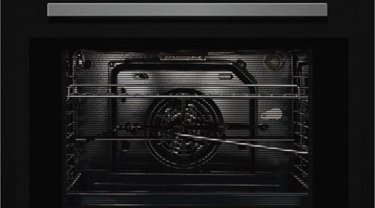 60cm 9 Function Wall OvenCavity : 65 L9 home appliance, kitchen appliance, multimedia, oven, product, toaster oven, white, black