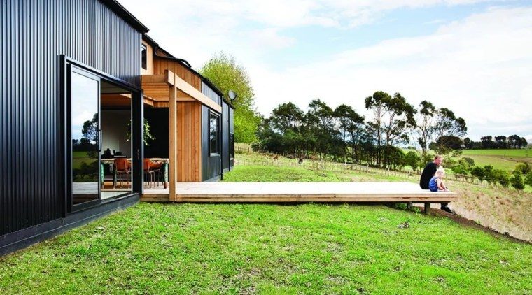 Dimondclad Rib2 architecture, cottage, facade, grass, home, house, landscape, lawn, leisure, property, real estate, residential area, yard, white, green